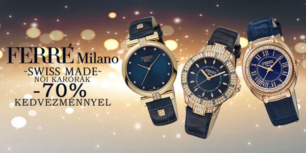 Ferré Milano Swiss Made női karórák -70% kedvezménnyel!