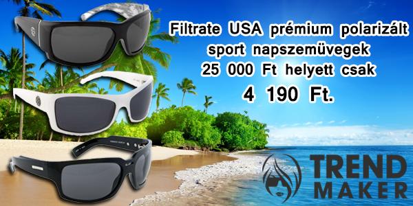 Filtrate USA prémium polarizált sport napszemüvegek 25 000 Ft helyett csak 4 190 Ft.