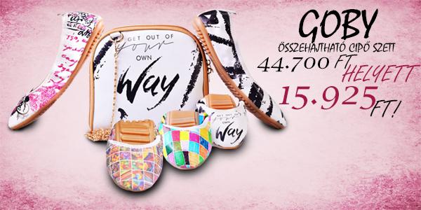 Goby összehajtható cipő szettek 15 925 Ft-ért!