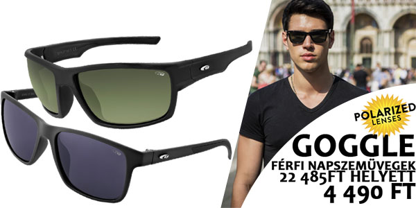 Goggle napszemüvegek -80% kedvezménnyel!