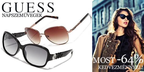 Guess napszemüvegek -64% kedvezménnyel!