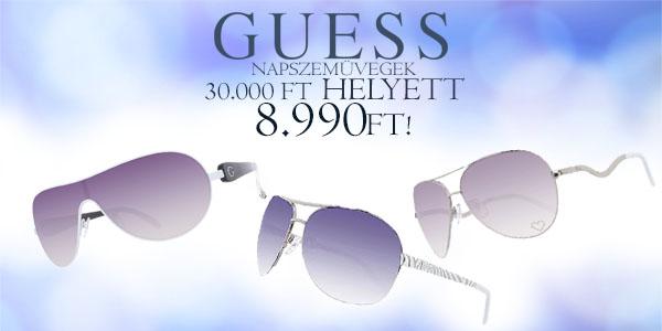 Guess női napszemüvegek 8 990 Ft-ért!