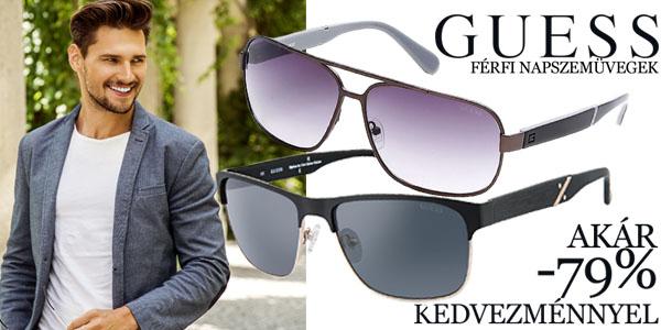 Guess férfi napszemüvegek akár 79% kedvezménnyel