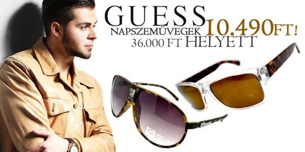 Guess férfi napszemüvegek -71% kedvezménnyel!