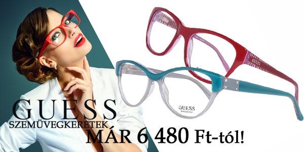 Guess női szemüvegkeretek már 6 480 Ft-tól!