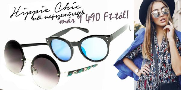 Hippie Chic napszemüvegek akár -83% kedvezménnyel!