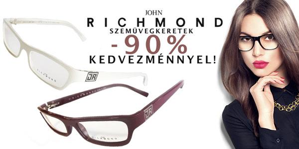 John Richmond szemüvegkeretek -90% kedvezménnyel!