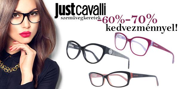 Just Cavalli szemüvegkeretek -60-70% kedvezménnyel