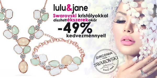 Lulu&Jane ékszerek -49% kedvezménnyel!