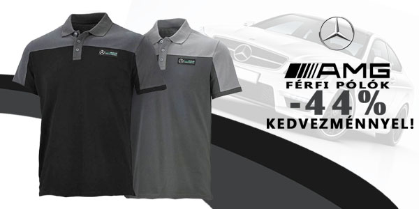 Mercedes AMG férfi pólók -44% kedvezménnyel!