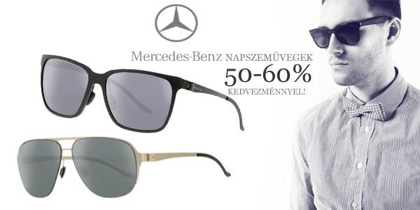 Mercedes-Benz napszemüvegek 50-60% kedvezménnyel!