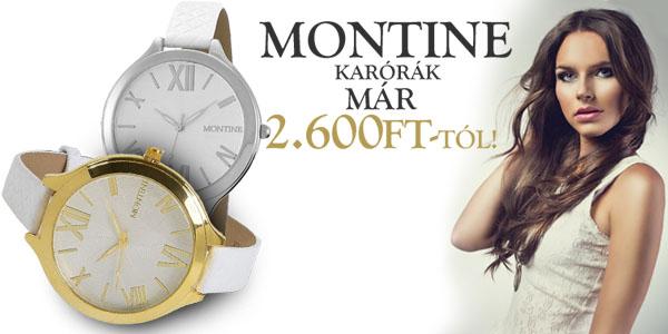 Montine karórák már 2 600 Ft-tól!