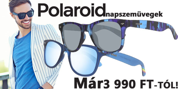 Polaroid napszemüvegek 3 990 Ft-tól!