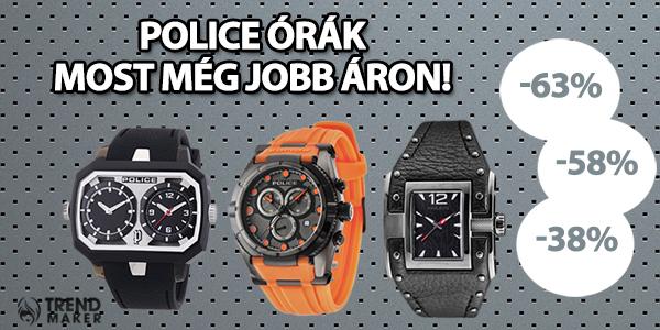 Police órák most még jobb áron! -63% -58% -38%