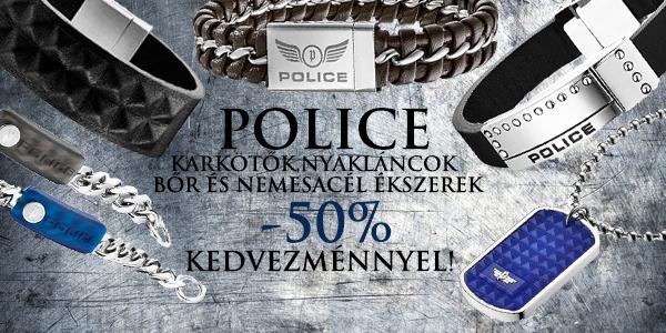 Police férfi ékszerek -50% kedvezménnyel!