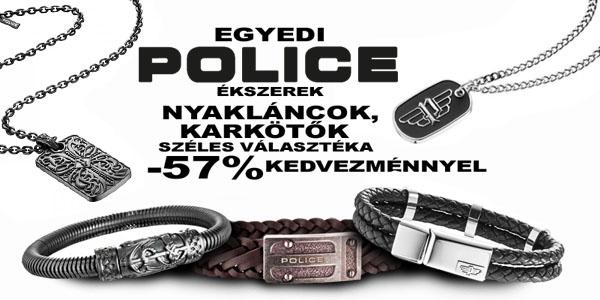 Police ékszerek -57% kedvezménnyel!