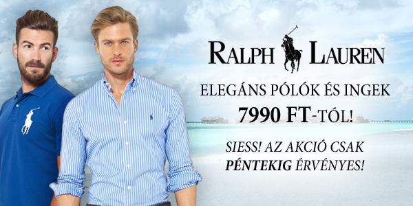 Ralph Lauren pólók és ingek 7.990 Ft-tól