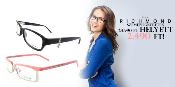 John Richmond szemüvegkeretek 2 490 Ft-ért!