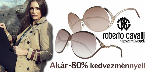 Roberto Cavalli napszemüvegek akár -80% kedvezménnyel!