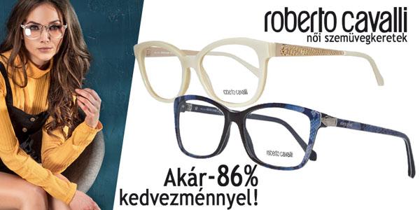Roberto Cavalli szemüvegkereket akár -86% kedvezménnyel!