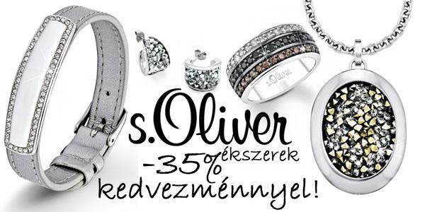 s.Oliver ékszerek -35% kedvezménnyel!