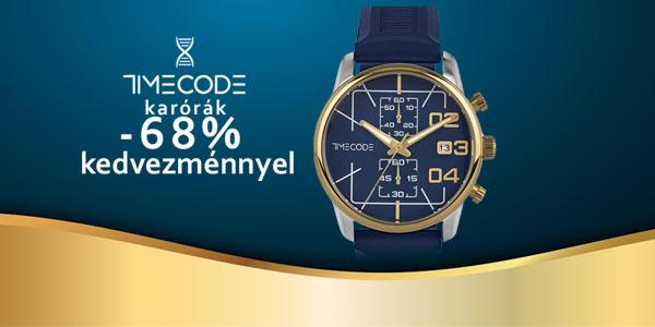 Timecode karórák -68% kedvezménnyel!