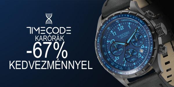 Timecode karórák -67% kedvezménnyel!