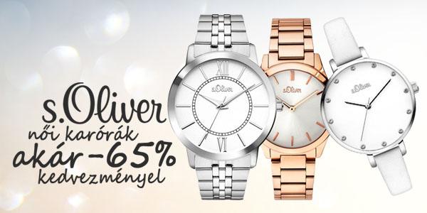 s.Oliver karórák -65% kedvezménnyel!